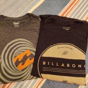 Billabong short sleeve shirts